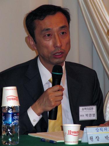 박찬병 지방의료원엽합회 부회장