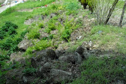석축 현 원통사 여기저기 널린 돌들이 엣 원통사의 사지임을 알려주고