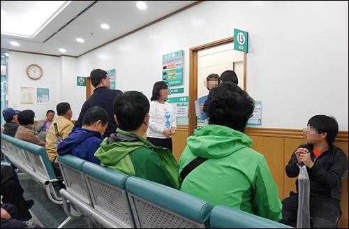 서울대병원의 진료 대기 모습.