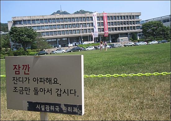 '본부스탁'이 열릴 예정인 서울대 본관 앞 '총장잔디'.