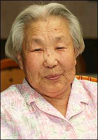 일본군 위안부 피해자인 고 이복순 할머니.