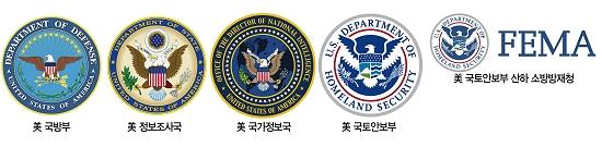 '새'를 중심으로 만들어진 미국 정부부처의 상징들