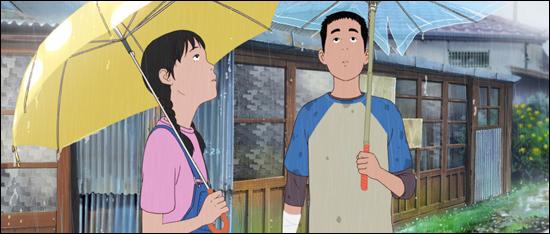 철수가 자신은 찢어진 우산을 갖고 이랑에게 좋은 우산을 건네주는 장면은 캐릭터들의 수줍은 감정이 잘 표현돼 있다.