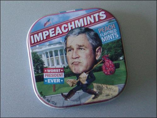 부시 대통령 재임 당시 전국에서 팔린 '탄핵 사탕' 임피치민트.