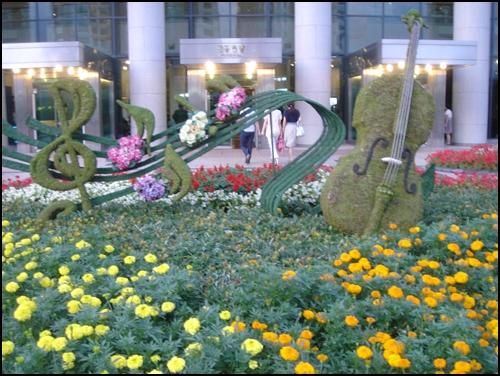 울산문화예술회관앞 임시로 꾸며 놓은 멋진 화단.