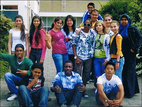 다양한 나라에서 온 네덜란드 아이들.