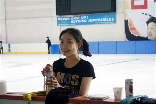 밝게 웃는 김해진 선수, 그 웃음만큼 대한민국 피겨의 미래가 밝은 듯 보였다