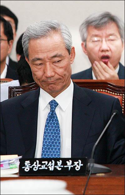 31일 한미FTA 비준안 상정이 예정된 국회 외교통상통일위원회 전체회의에 김종훈 통상교섭본부장이 출석해 있다.