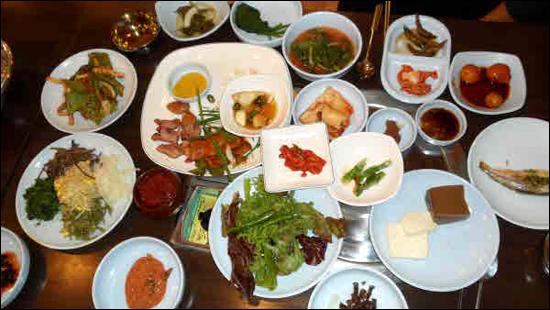 칠갑산 아래 장곡사 맛집의 산채 정식