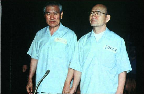 전두환 노태우 전대통령이 12·12및 5·18사건에 관련한 재판을 받고 있다.(1996.12.16)