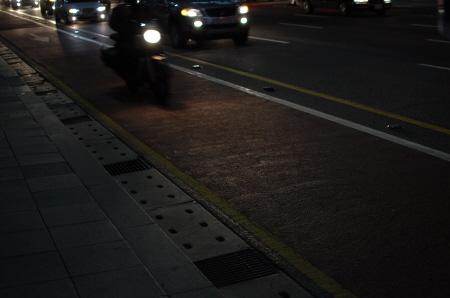 서울시 광화문 앞 자전거도로의 모습