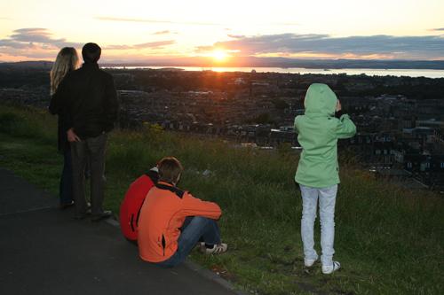 칼튼 힐의 석양. 말로 표현할 수 없이 아름다운 곳이다.