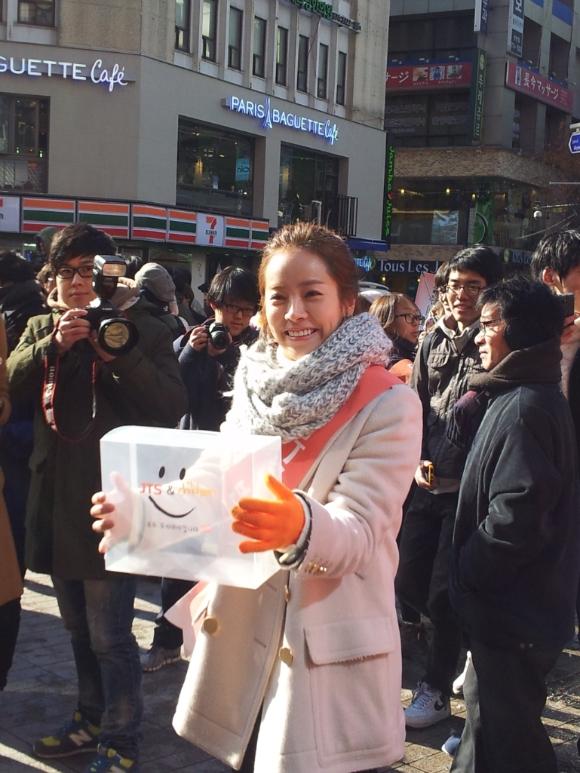 JTS 거리캠페인에 나온 한지민