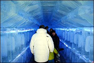 얼곰이성 얼음터널.