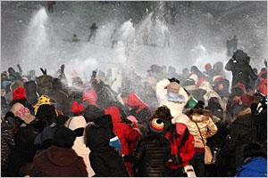 태백산눈축제 눈싸움 이벤트(2010년 1월).