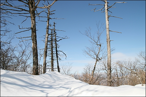설악산 겨울산 풍경