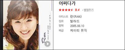 2004년 '란'이라는 예명으로 데뷔한 전초아(본명 전애영)는 1집 수록곡 '어쩌다가'가 인기를 얻었지만, 소속사와의 갈등으로 계약을 파기했다. 2006년 발매된 란 2집부터는 다른 가수인 정현선이 활동했다.