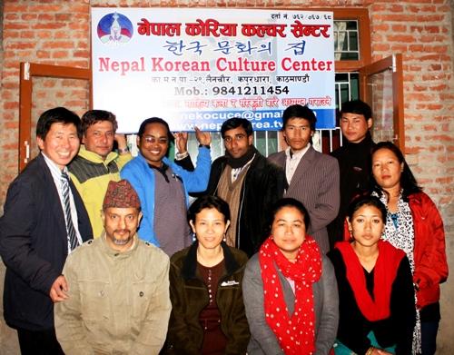 네팔한국문화센타 오픈 지난 3월 1일 네팔 한국문화센타 문을 열었다. 네팔 주요멤버들과 자문위원이 함께 참석했다.