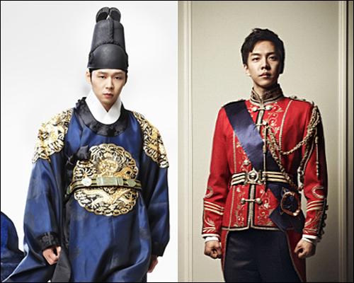 SBS <옥탑방 왕세자>(왼쪽)와 MBC <더킹투하츠>가 21일 동시에 첫 출발했다. 수목극 시청률 1위는 16.2%를 기록한 <더킹투하츠>가 차지했다.