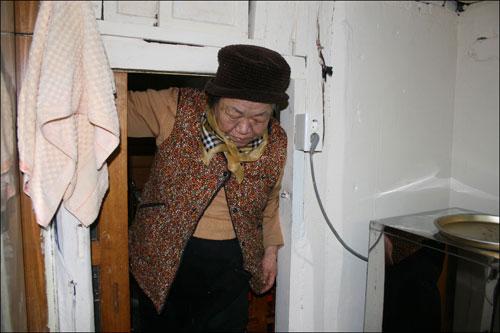당산나무집의 주인할머니(77.조삼순)입니다.