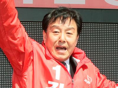 지난 4월 9일 선거운동 당시 김형태 당선자 유세 모습.