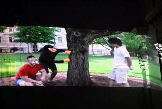 영상으로 소개된 <단군신화>의 한 장면