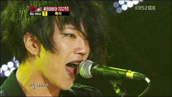 KBS 2TV<탑밴드> 시즌 1에서 우승한 톡식의 방송당시 모습