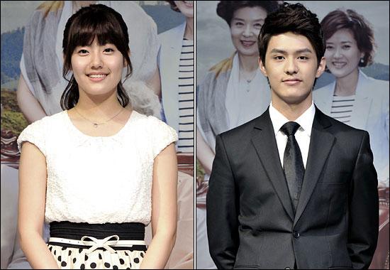 MBC 일일드라마 <그대없인 못살아>에서 로맨스 연기를 펼치게 된 배우 남지현(왼쪽)과 도지한