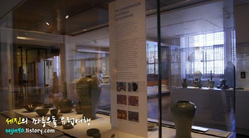 대영박물관 한국관의 모습