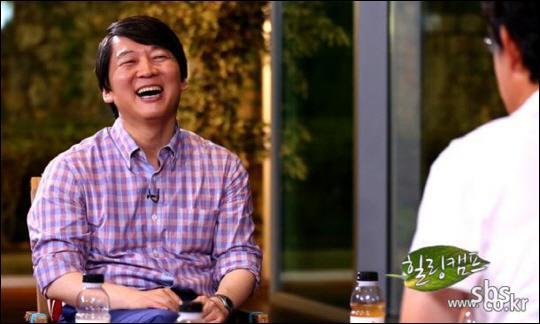 안철수 서울대 융합과학기술대학원장(50)이 23일 SBS 토크 프로그램 < 힐링캠프, 기쁘지 아니한가 > 에 출연했다. 전국 시청률 18.7%, 수도권  21.8%로 대박을 터뜨렸다.