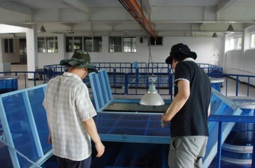 지난 6월말 남조류가 발생했던 함안보 상류의 칠서정수장을 둘러보았다. 이곳은 고도정수처리시설, 곧 조류의 독성물질 등을 정수하는 시설이 갖추어져 있다.