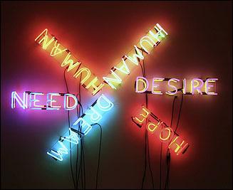 미국에서 가장 존경 받는 브루스 나우만(Bruce Nauman) '인간 욕구 욕망(Human/Need/Desire)' 1983. 뉴욕현대미술관 소장