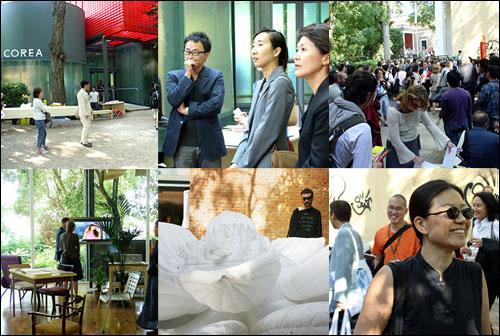 2005년 베니스비엔날레 한국관 전시장, 오프닝 장면과 참가 작가들과 주변 풍경