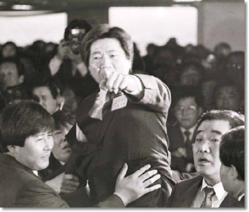 5공 청문회 당시 노무현 전 대통령의 모습