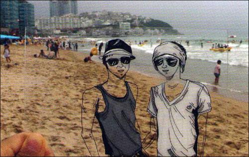 박혜민 작가는 엽서로 제작한 작품을 선보였다.