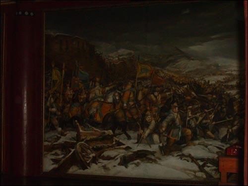 고려시대의 전투 장면. 사진은 서울시 관악구 낙성대동의 낙성대에 전시된 강감찬의 귀주대첩도.