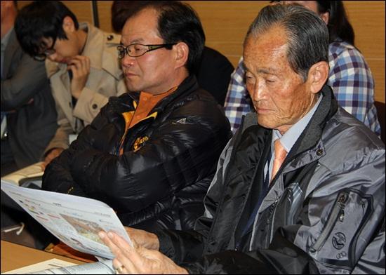 13일 대전컨벤션센터(대전 유성구)에서 지역신문발전위원회 주최로 열린 '2012 지역신문 컨퍼런스'에 참여한 80대 시민기자