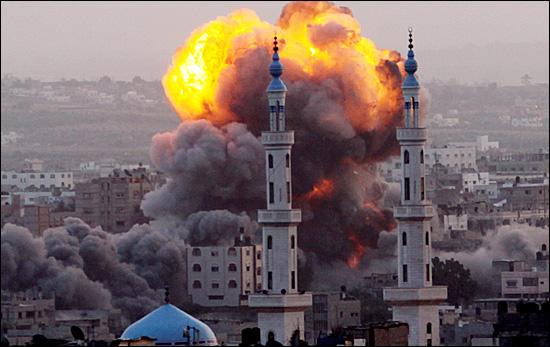 이스라엘의 가자지구 공습.