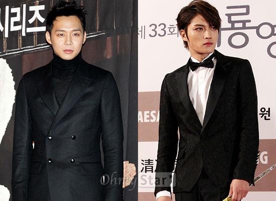 JYJ의 멤버로 연기 활동도 펼치고 있는 박유천과 김재중