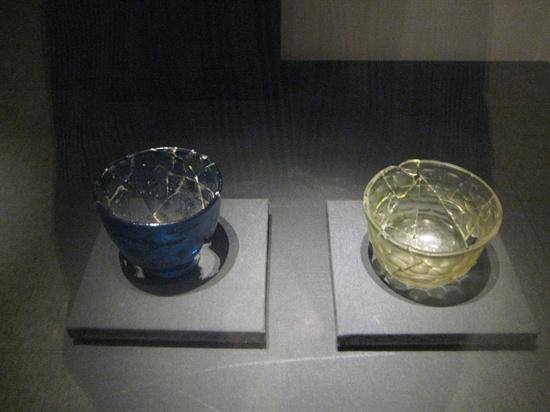 용산 국립중앙박물관의 로만글라스.