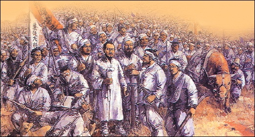 동학혁명 전봉준과 동학농민운동군.