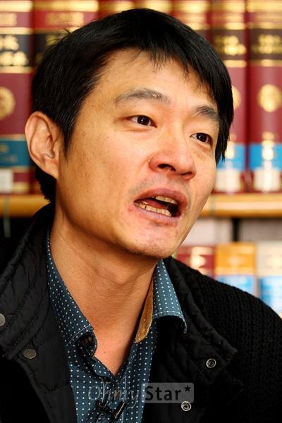 16일 서울 목동 CBS에서 CBS 라디오 <김미화의 여러분>의 진행자인 희극인 김미화와 대담을 가진 오마이스타 김대오 국장.