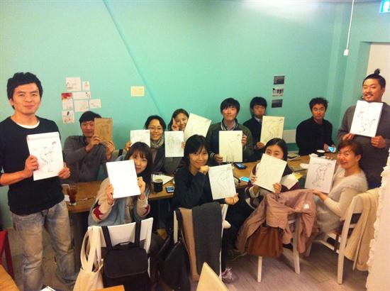 지난해 9월부터 한 달 정도 진행된 스케치 모임. 모임은 대상의 주요 특징을 빠르게 스케치 하는 그림 모임. 10여명이 참가했다.