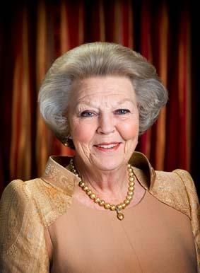 75세 생일을 맞은 네덜란드 베아트릭스 여왕의 기념 사진.