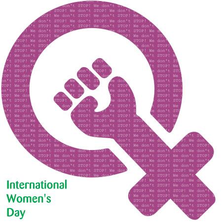 세계 여성의 날 로고.