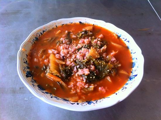 군침 도는 김치국밥