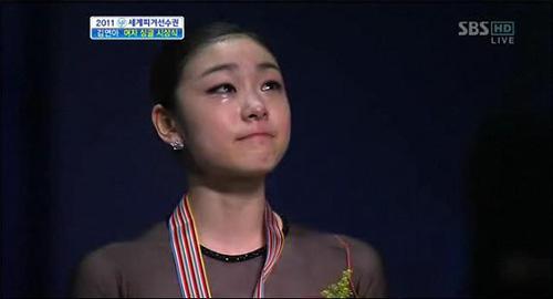 2011년 4월 30일, <2011 세계피겨선수권대회> 여자 싱글 (SBS 화면캡처)