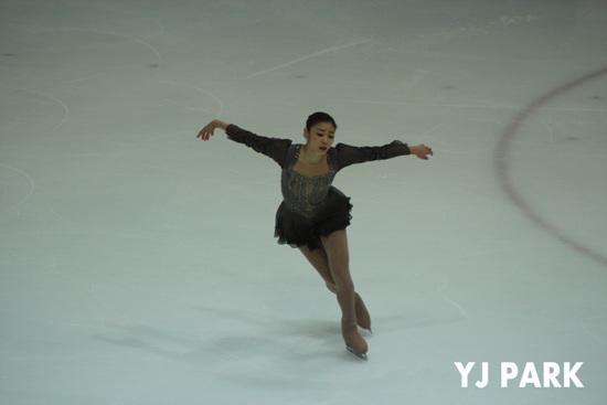 김연아가 세계선수권에서 레미제라블을 완벽하게 연기했다. 사진은 지난 1월 종합선수권에서의 모습