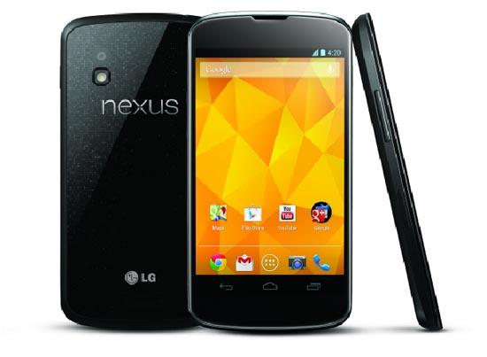 넥서스4. 구글과 LG전자가 함께 만든 레퍼런스 스마트폰이다.