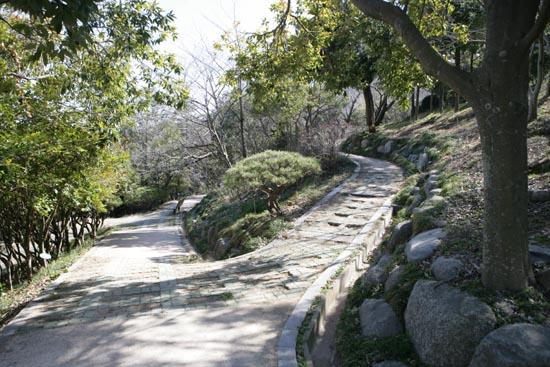 유달산 산책로. 조각공원과 달성공원을 이어주는 길이다.